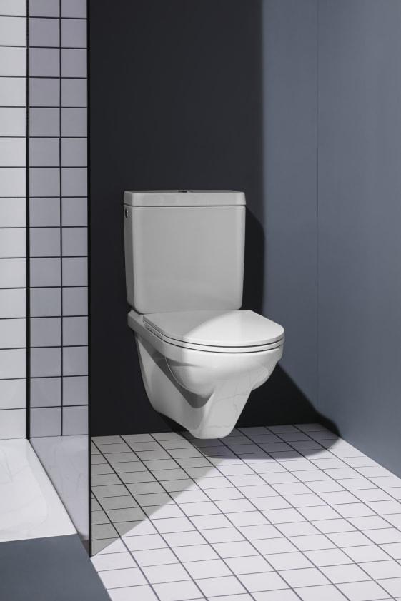 Turbo Wand-WC für aufgesetzten Spülkasten, Tiefspüler, mit Spülrand JP77