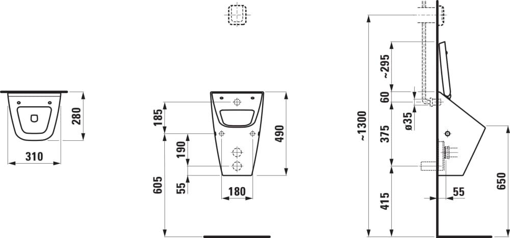 absauge urinal wasserzulauf innen ausf hrung f r deckel urinal urinale produkte laufen. Black Bedroom Furniture Sets. Home Design Ideas