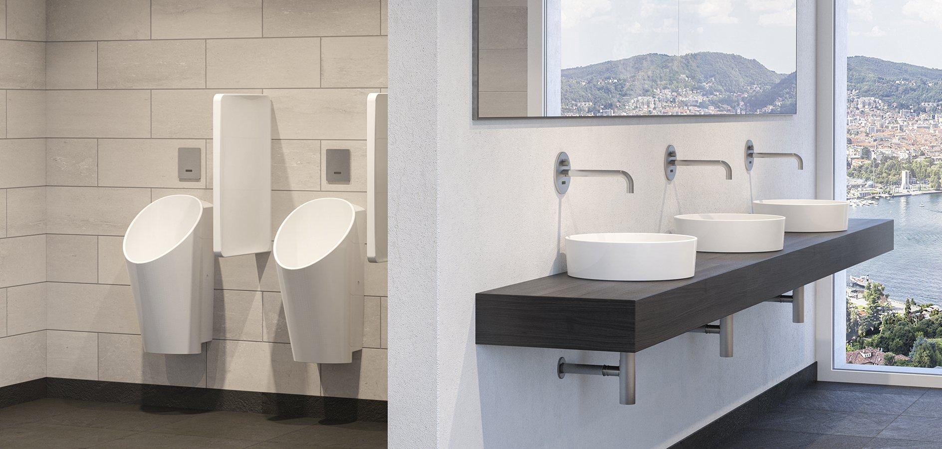 Urinale, Design, spülrandlos